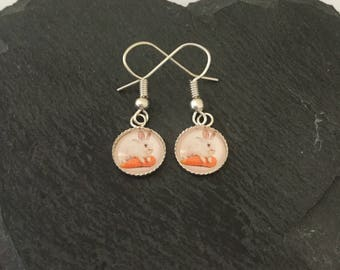 Cute bunny earrings / pet jewellery / rabbit earrings / bunny jewellery / rabbit jewellery / animal lover gift