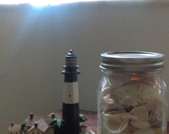 Natural+Thrifted// Tybee Island Lighthouse + Real Florida SeaShells