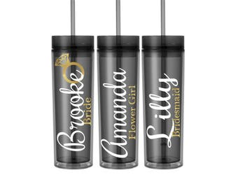 Personalized Name Tumbler/Black/Glitter/Ring/Cute/Coral/Fall/Summer/Spring/Winter/Wedding/Bride/Bridesmaid/Favor Gift custom/cup
