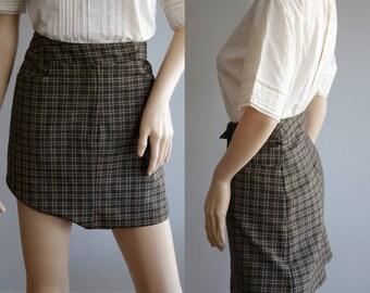 Valentine's Day SALE - Hot 90s Mini Plaid Skirt
