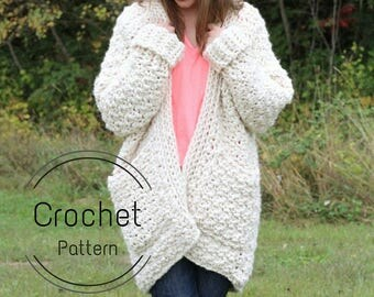 Cloud Cardigan Pattern // Crochet Pattern // Super Chunky Cardigan Pattern // Crochet Cardigan Pattern // Chunky Cardigan Pattern