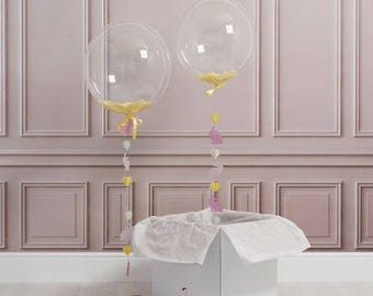 24 Inch High Quality Wedding| Party| Transparent Round Bubble Balloon | 2 pack