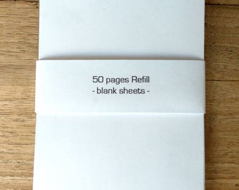 Refill pack for the reporter notepad, white w/o lines, 50 pages
