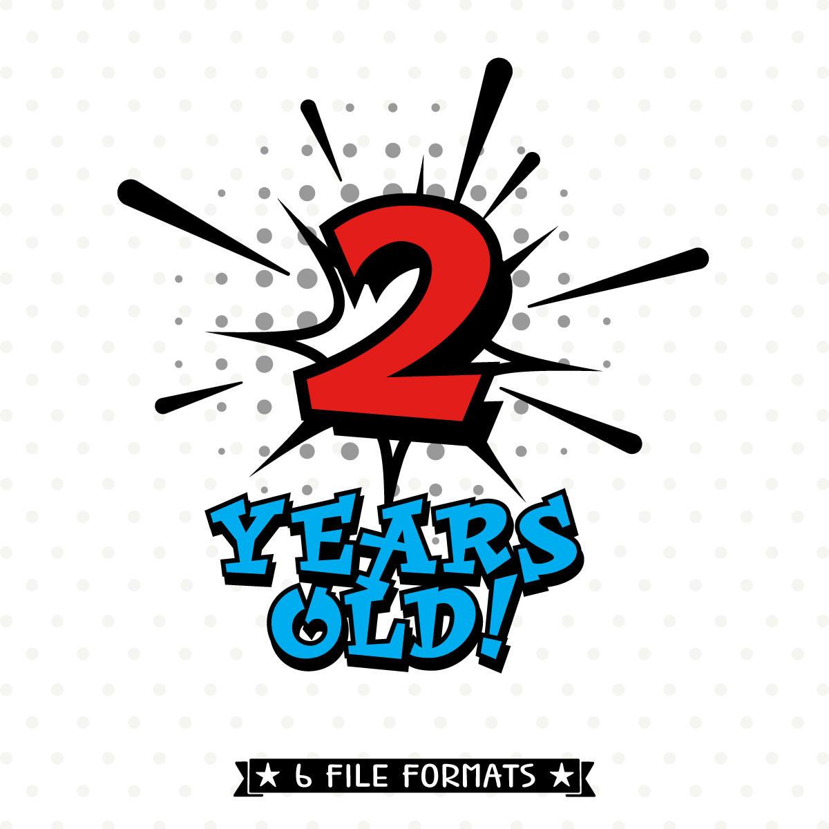 Boys 2nd Birthday SVG file Superhero Birthday Shirt SVG