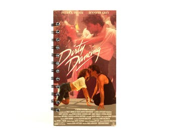 Dirty Dancing Notebook | Patrick Swayze, Jennifer Grey | Recycled VHS