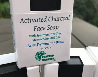 Activated Charcoal Face Soap / 100% Natural / Cold Process Soap