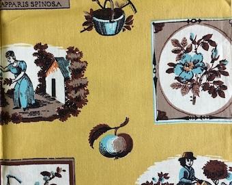 Mid Century Garden Fabric
