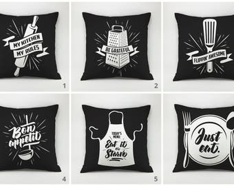 Kitchen pillow cover funny pillow case kitchen cushion cooking pillow gift for mom cushion cover decorative pillow throw pillow