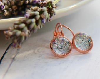 Unicorn Earrings - Rose Gold Earrings - Handmade Earrings - Rose Gold Jewellery - Handmade Jewellery - Unicorn Gift