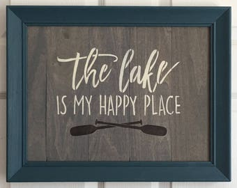 Lake House Decor - Lake House Sign - Custom Lake House  Signs - Rustic Lake Decor- Rustic Lake Signs - Lake Decor - Wood Lake House Sign