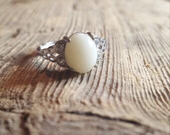 CZ scroll ring