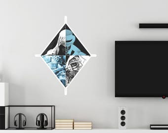 Assassin's Creed Abstract Assassin Diamond Wall Decal Officially Licensed by Ubisoft