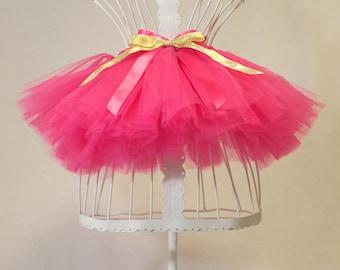 Fuschia Pink Tutu Girls Flower Girl Birthday Wedding