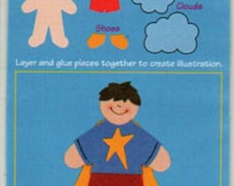 Super Hero Seth Mini Paperkins Die Cut Paper Dolls Ek Success Scrapbook Embellishments Cardmaking Crafts Paper Piecing