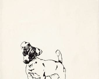 Jack Russell Tea Towel
