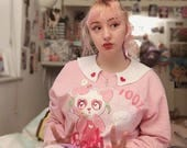 Peach Panda Sweater: Made To Order