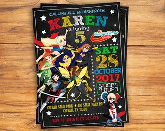 DC Superhero Girls Invitation, DC Superhero Girls birthday, dc Superhero Girls Party, dc Superhero Girls / Girl Invitation / Digital file