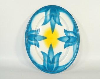 Rare Vintage Enamel Tray / Vintage Enamel Plate / Enamel Dish / Emo Celje Made in Yugoslavia / Vintage Enamelware / Kitchen Decor /