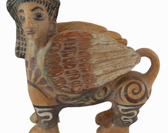 Sphinx sculpture Ancient Greek statue artifact
