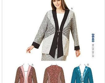 Kwik Sew 3640 Women's Plus Size Jacket 1X-4X. New in envelope