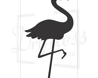 Flamingo stencil etsy flamingo stencil bird stencil flamingo flamingo template pronofoot35fo Images