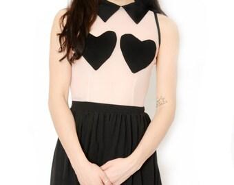 Heart Boo Boo Mesh Collar Dress