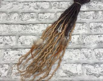 Brown Ombre Full Head DE Wool Dreadlocks, Choose Your Length and Amount, Dreads, Festival, Hippie, Boho, Gypsy, Wool, Fae, UK *Custom