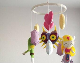 Nintendo The Legend of Zelda Baby Felt Crib Mobile Nursery Decor