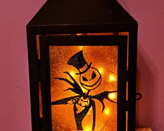 Jack and Sally LED Lantern