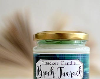 Broch Tuarach - soy candle inspired by book, bookish candle, gift, literary candle, bibliophile, outlander, soy candle, book candles