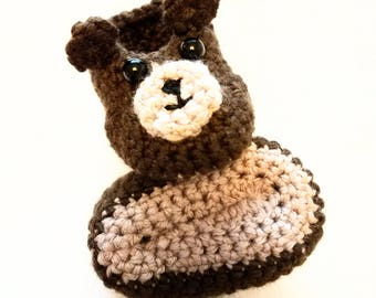 Baby Bear Hat & Booties Set