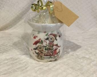 Wax burner gift set oil burner gift set vanilla wax melts stocking filler teachers gift Christmas present