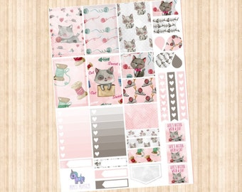 Kitty Weekly Kit // Happy Planner // Erin Condren // Personal