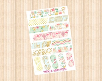 Blossom Washi Strips & Drops // Happy Planner // Erin Condren //Personal