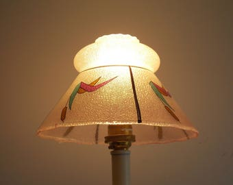 A Glass light shade, embossed bubble effect, modern design.