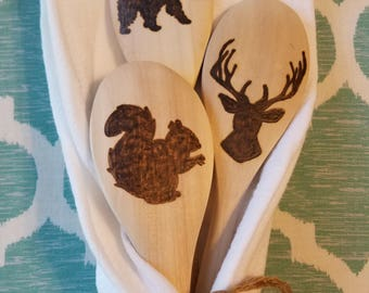 Woodsman Spoon Set