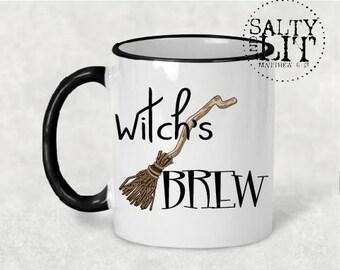 Witch's brew coffee mug,witch's brew mug,coffee mug,halloween mug,funny mug,coffee cup,halloween cup,witch mug,witch's brew,witch broom mug