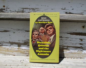 Barnabas, Quentin and the Nightmare Assassin First Printing June 1970, by Marilyn Ross, Dark Shadows Library Gothic Paperback Novel