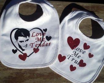 Love Me Tender - A Baby Onesie, Bib Set, T-SHIRT inspired by Elvis Presley