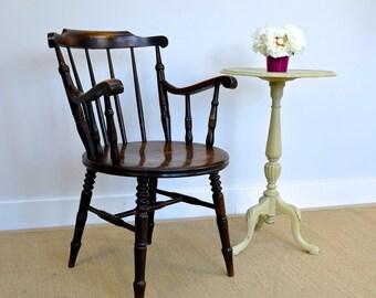 Vintage Swedish Fireside Chair, Antique Stick Back Chair, Kitchen Armchair, Vintage Furniture, Antique, Chair, Scandi Chair,