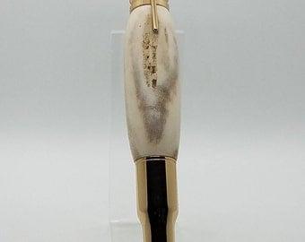 Bolt Action Bullet Pen using Whitetail Deer Antler