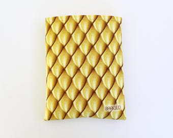 SALE Designer BookBud Dragon Scales Gold book sleeve