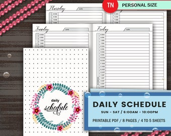 daily time schedule printable