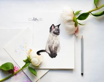 Cat clipart digital Kitten clipart Watercolor clipart Animal clipart Pet clipart Cat graphics Cat stickers Handpainted clipart Planner stick