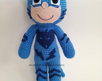 PJ MASK AMIGURUMI super piagiamini cat boy original baby gift
