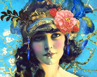 Flapper. Greetings card. Art cards. Romany Soup.
