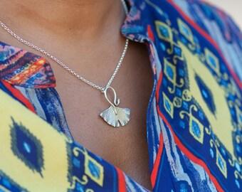 Nouveau Ginkgo Leaf Necklace