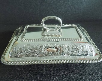 Antique Victorian Silver Plated EP Entree  Serving Tureen Dish