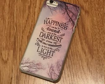 Harry Potter quote iPhone 6/6s/7 case, Albus Dumbledore iPhone 7 case, Happiness can be found iPhone 7 case, Harry Potter iPhone case