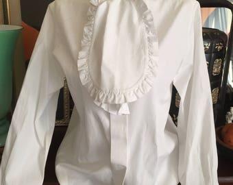 YVES SAINT LAURENT. Vintage shirt 80s - tuxedo